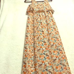 Lily Rose XS Floor Length Floral Dress High Waist
